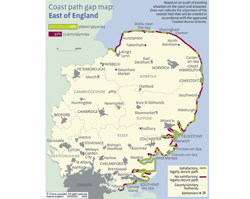 Coastal access map