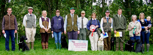 Wye Valley Retriever Club puppy winners