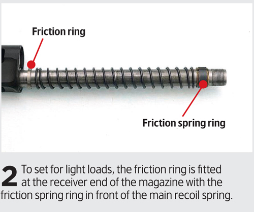 How to set a recoil operated semi-auto for different loads