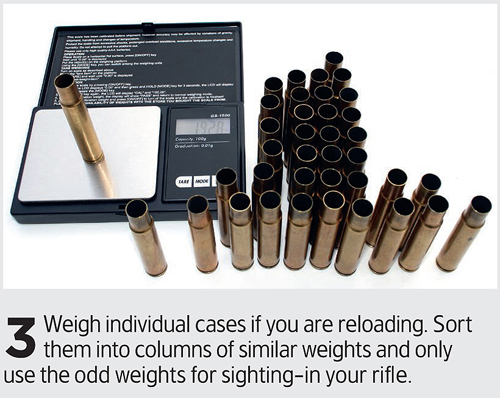 Sort ammunition by weight for better accuracy!