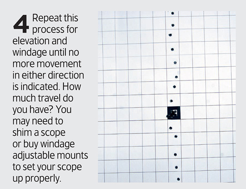 How to optically centre your rifle scope.