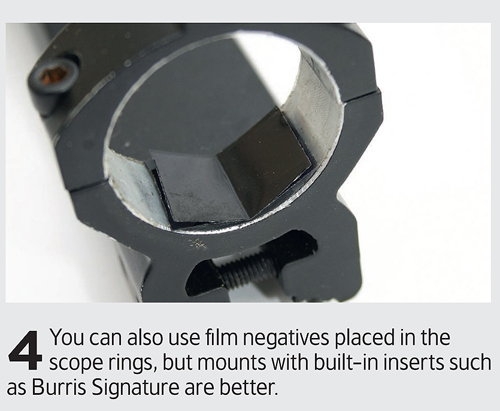 How to attach shims to your rifle scope.