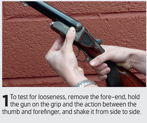 Check an old gun for wear and tear.