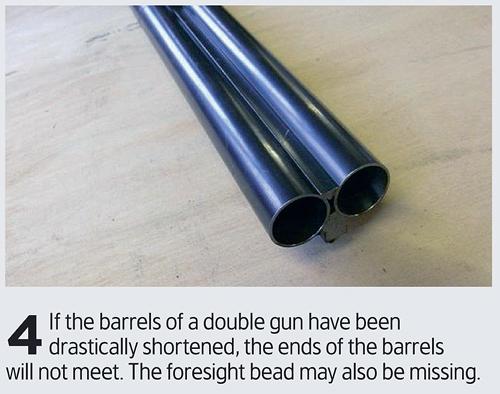 Check barrel condition on a shotgun