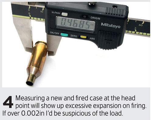 Check for signs of excess pressure on cartridges
