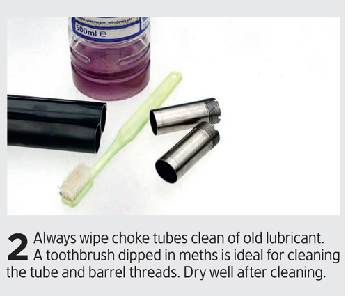 How to remove shotgun choke tubes for cleaning