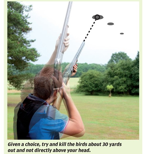Clay shooting: grouse and partridge targets
