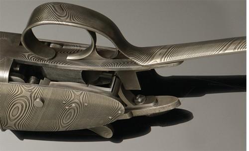 Purdey Damascus Steel shotgun trigger.