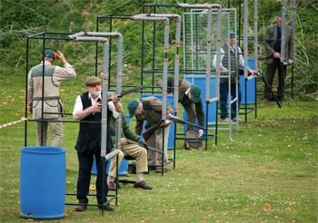 clay pigeon shooting line