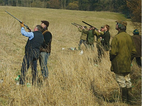 Partridge shooting clay practice