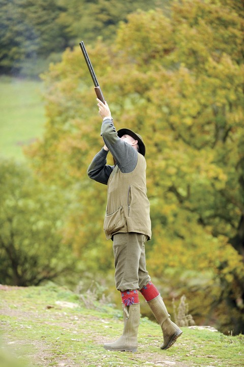 Good form and balance when shooting