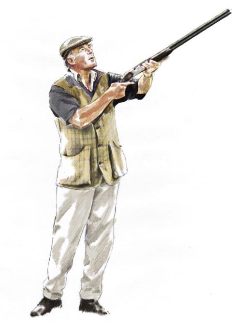 illustration of man shooting