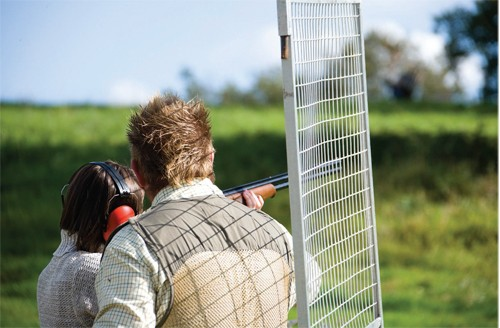 Clay pigeon shooting lessons instruction.
