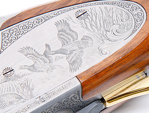 Browning Heritage shotgun engraving.