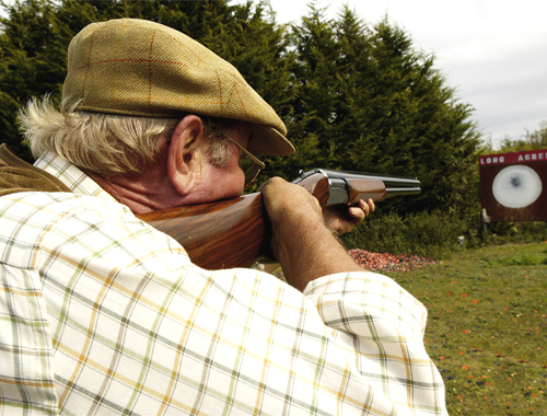 zeroing a shotgun at the pattern plate.jpg