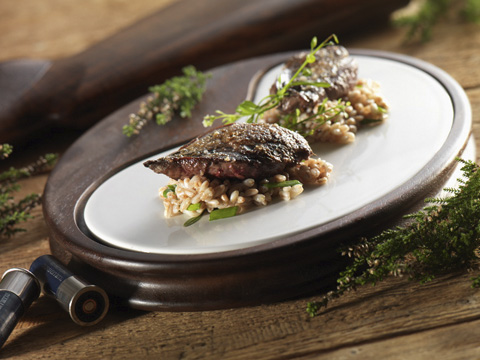roast grouse risotto