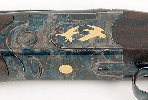 Beretta Silver Pigeon 5 engraving.