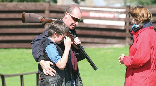 Clay pigeon shooting lessons beginner.