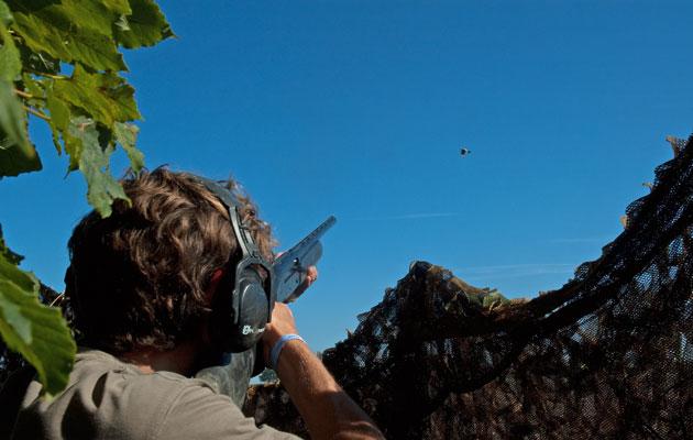 Shooting wearing ear defenders