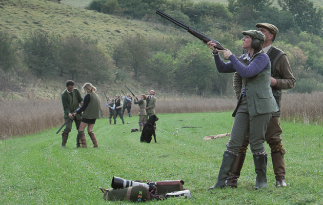 Ladies partridge shooting at Punchbowl and Ridgeway shoot