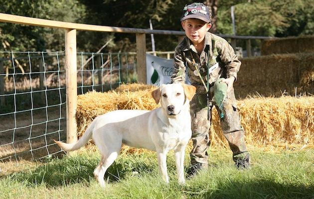 young gundog handler