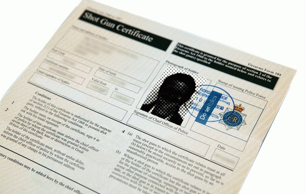 Advice for applying for your shotgun certificate