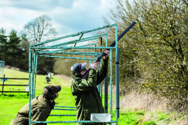 shooting clays from cage