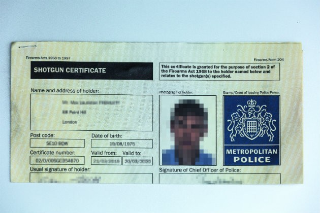 Shotgun Certificate Lications