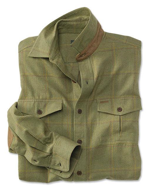 olive herringbone shirt