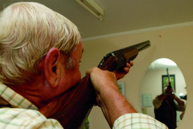 gun mount practice
