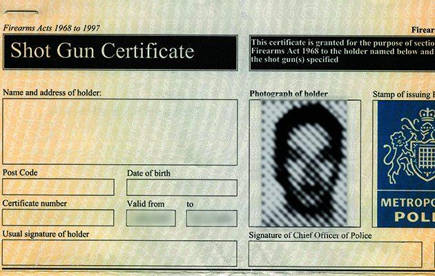 shotgun certificate