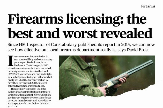Our article in Shooting Times 2 November 2016