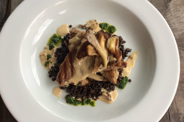 Wild boar with lentils