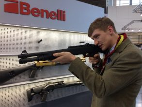 Trying guns at IWA Outdoor Classics