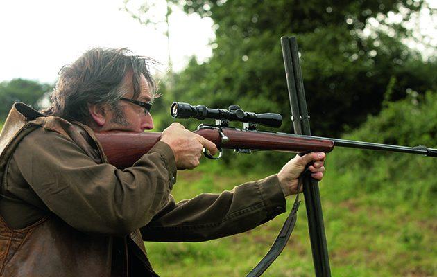 Man shooting semi auto