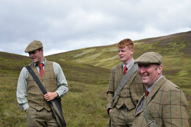 On the moors in tweeds