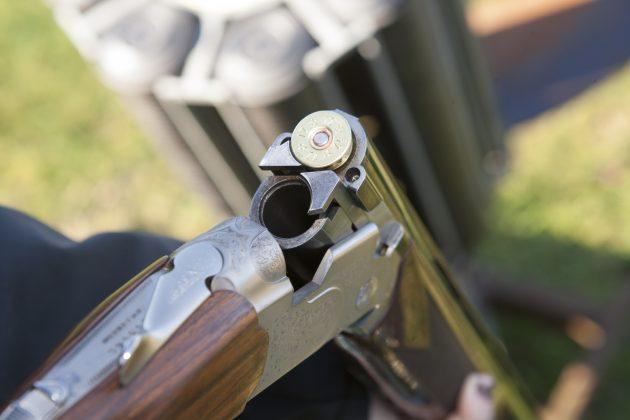 one cartridge in shotgun