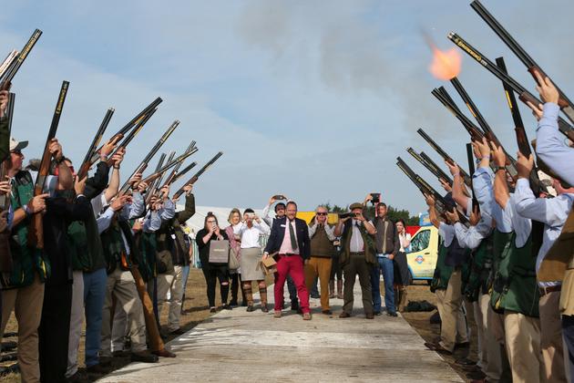 60 gun salute at The Game Fair 2018
