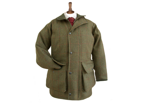 Butler Stewart waterproof shooting coat in bullfinch