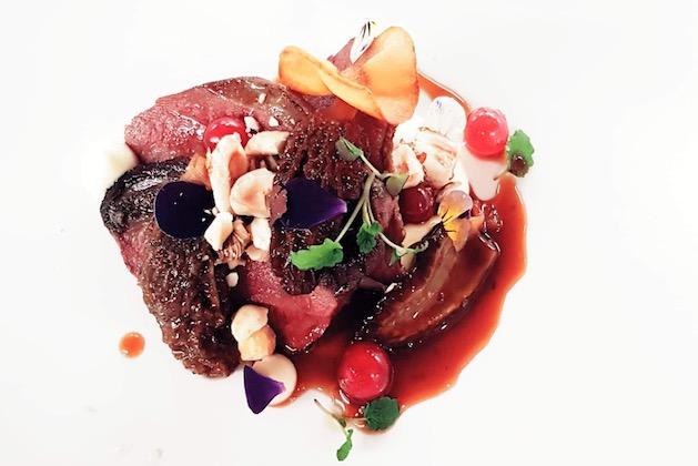 Recipe for woodpigeon breasts with caramelised parsnip puree