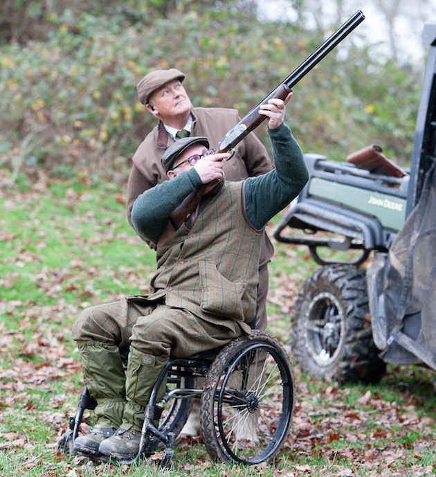 gameshooting from wheelchair