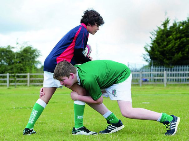 Tackle  >> A Video Showing Mini Rugby Players How To Tackle Low