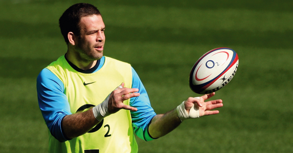 Joe Worsley during an England practise day
