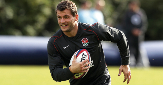 Mark Cueto during an England training session