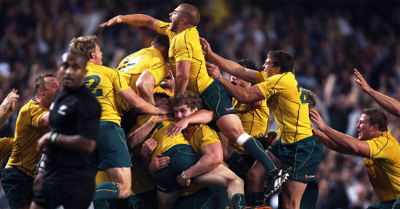 Winning the Bledisloe Cup against New Zealand in October 2010