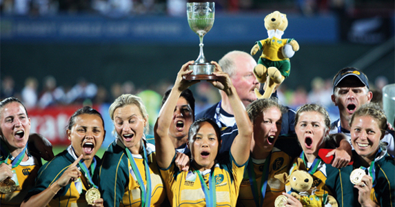 Australia's women winning the Rugby Sevens World Cup in 2009