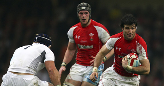 Mike Phillips makes a darting run against England at the weekend