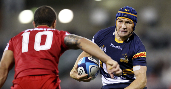 Matt Giteau of the CA Brumbies lost last weekend to the Queensland Reds