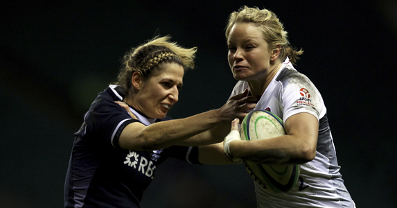 Fran Matthews in the Scotland Six Nation clash earlier in the year