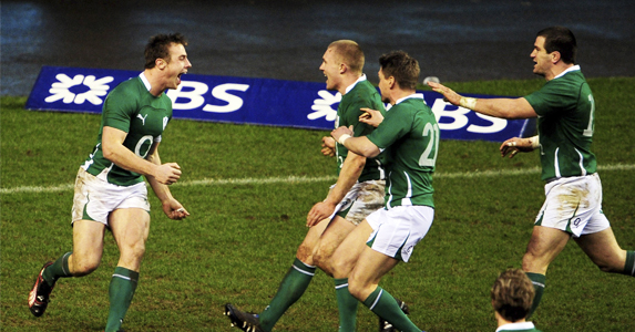 Last year's Player of the Championship - Tommy Bowe (Left)